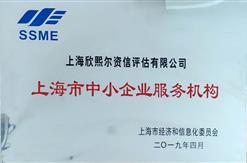 """热烈祝贺上海欣熙尔资信评估有限公司荣获上海市中小企业服务机构""""优秀""""评级"""