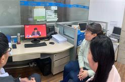 集团组织员工观看十九届五中全会会议直播